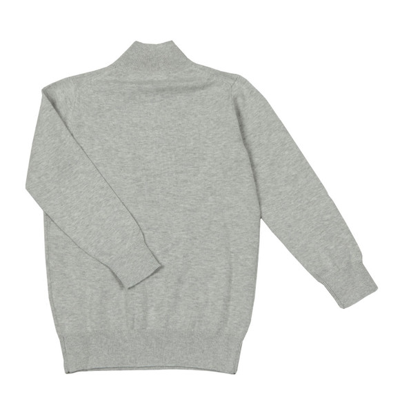 Gant Boys Grey TB Lightweight Cotton Half Zip main image