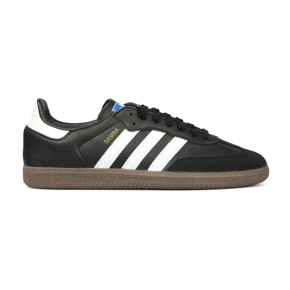 adidas Originals Mens Black Samba Leather Trainer main image