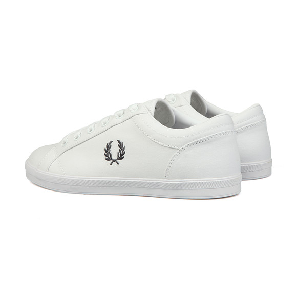 Fred Perry Mens White Baseline Trainer main image