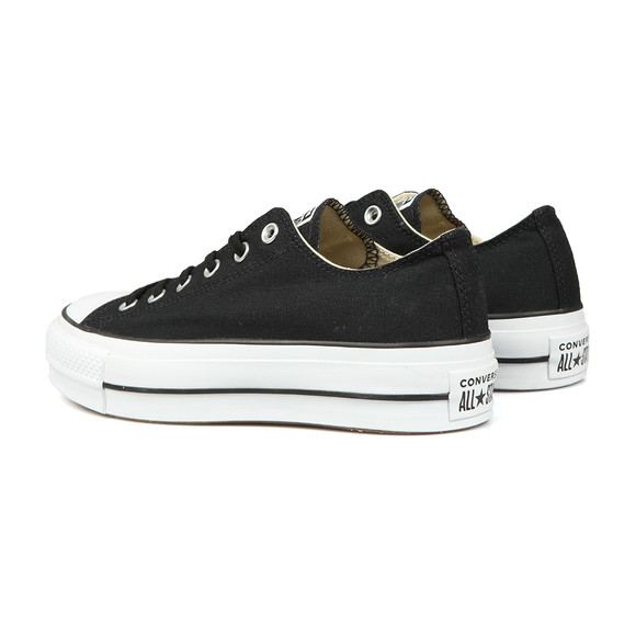 Converse Womens Black All Star Low Platform Ox main image