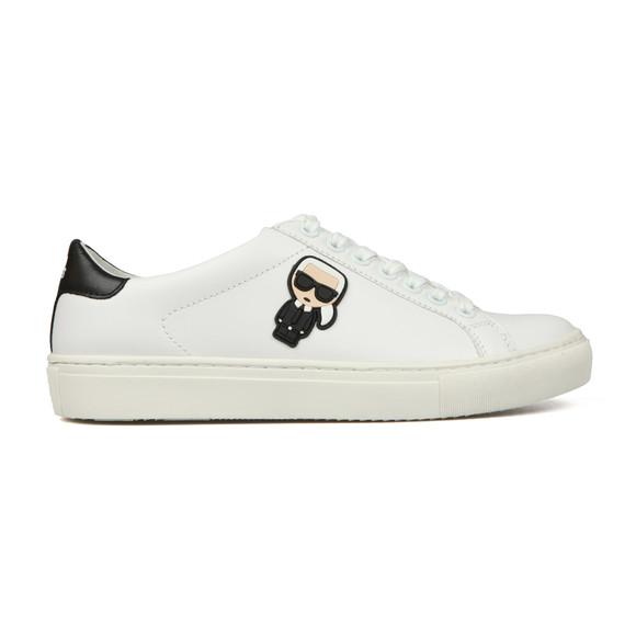 Karl Lagerfeld Womens White Kupsole Karl Ikonic Lo Lace Trainer main image