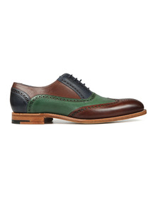Barker Mens Multicoloured Valiant Hand Painted Shoe