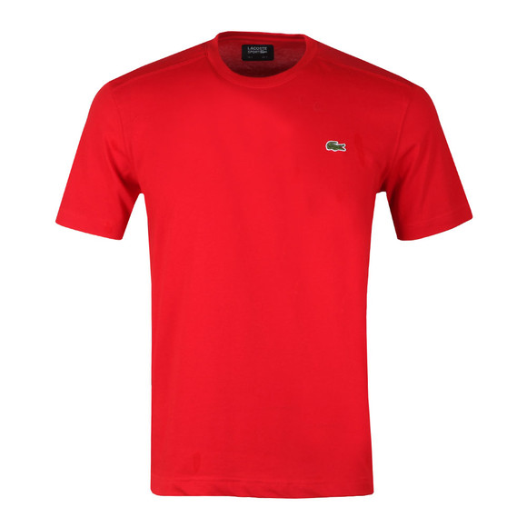Lacoste Sport Mens Red TH7618 Plain T-Shirt main image