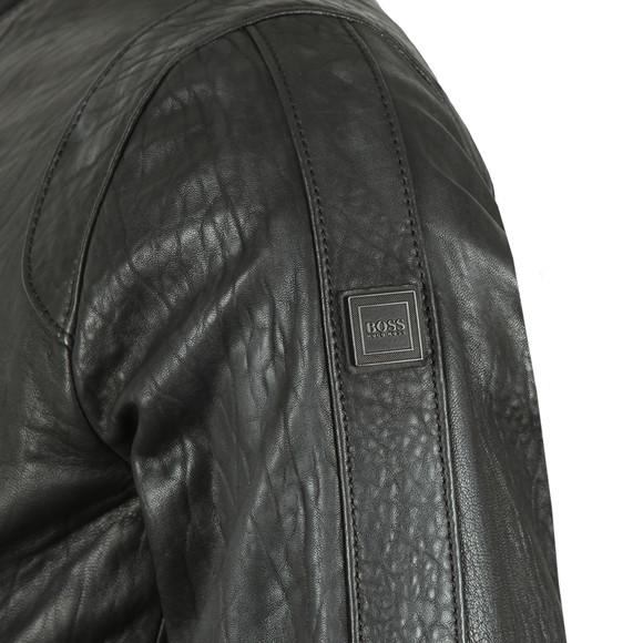 BOSS Mens Black Casual Josiah Slim Fit Bomber Jacket main image