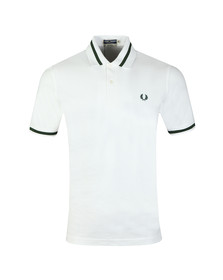 Fred Perry (Reissues) Mens White S/S Single Tipped Polo