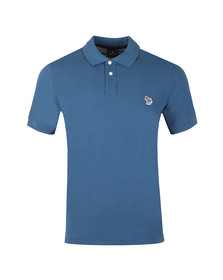 PS Paul Smith Mens Blue Zebra SS Polo Shirt