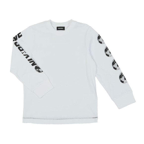 Diesel Boys White Tarto T Shirt main image