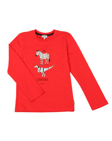 Paul Smith Junior Boys Red Zebrasaurus T  Shirt