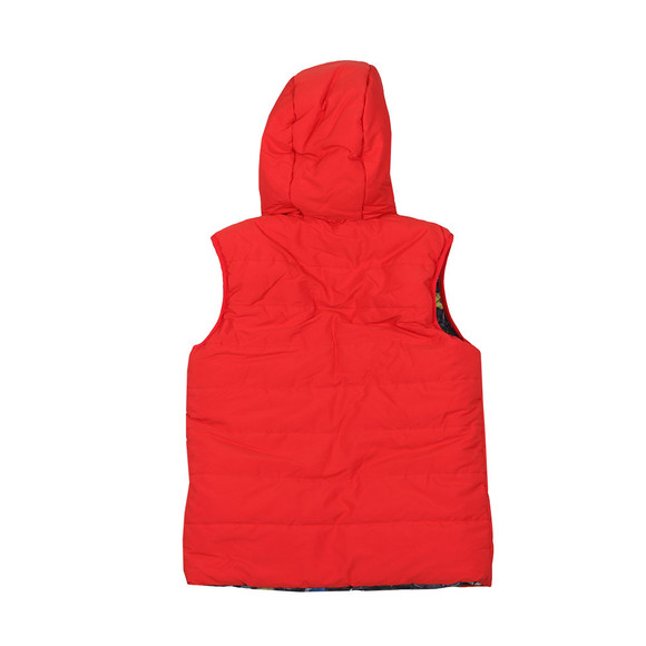 Paul Smith Junior Boys Red Reversible Gilet main image