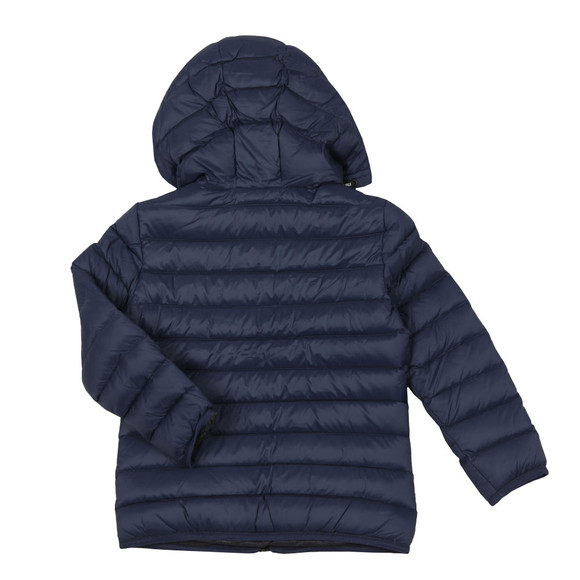 Emporio Armani Boys Blue Hooded Down Jacket
