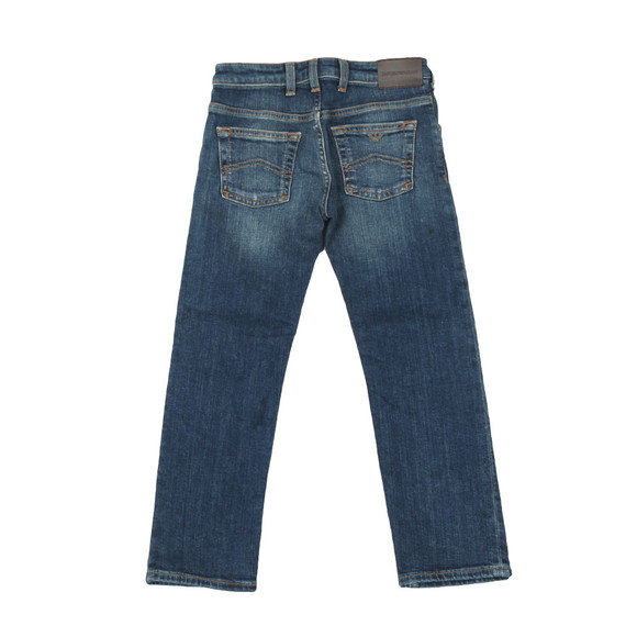 Emporio Armani Boys Blue Regular Fit Jean