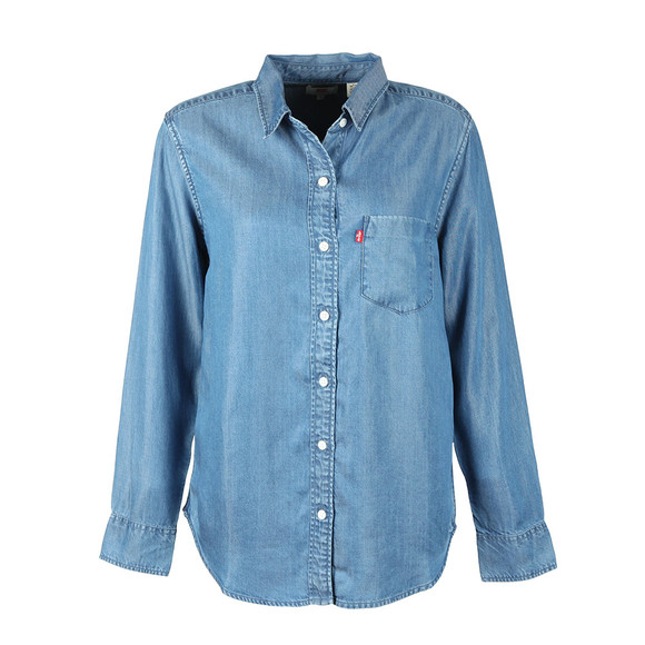 Levi's Womens Blue Ultimate Boyfriend Shirt main image