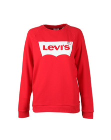 Levi's Womens Red Boyfriend Crew Neck Sweat
