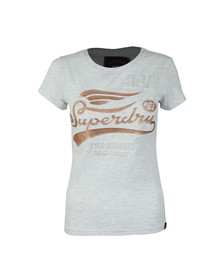 Superdry Womens Grey High Flyers Entry T Shirt