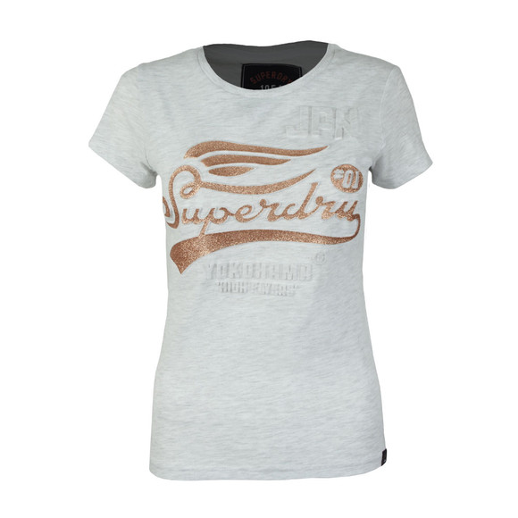 Superdry Womens Grey High Flyers Entry T Shirt main image