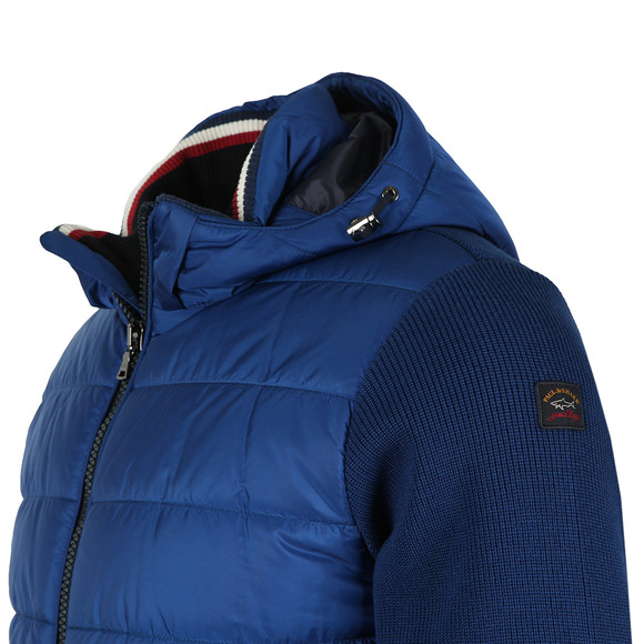 Paul & Shark Mens Blue Knitted Padded Jacket main image