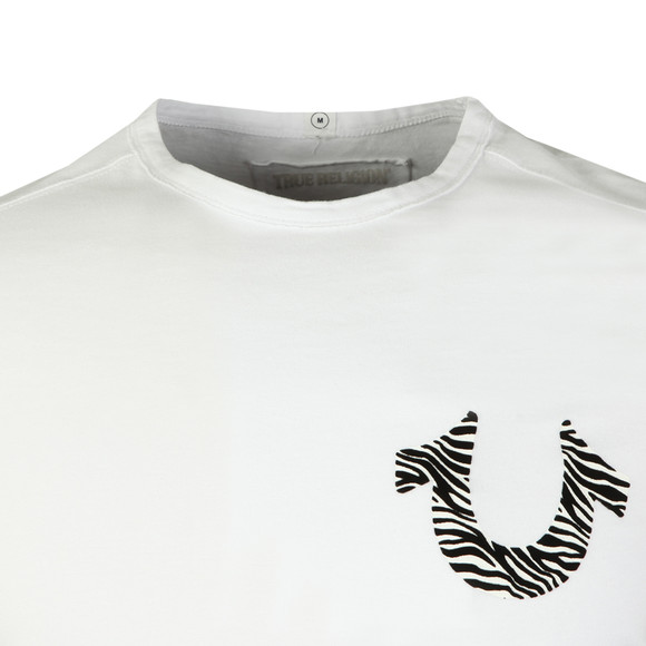 True Religion Mens White Zebra Horseshoe Print T Shirt main image