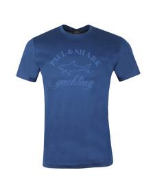 Paul & Shark Mens Blue Shark Fit Large Logo T Shirt