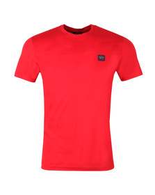 Paul & Shark Mens Red Small Badge Shark Fit T Shirt