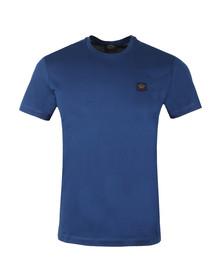 Paul & Shark Mens Blue Small Badge Shark Fit T Shirt