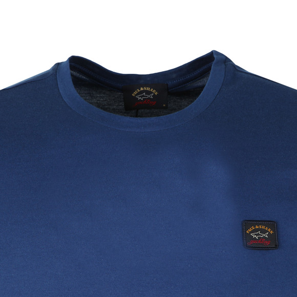 Paul & Shark Mens Blue Small Badge Shark Fit T Shirt main image