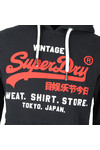 Superdry Mens Blue Sweat Shirt Shop Duo Hood