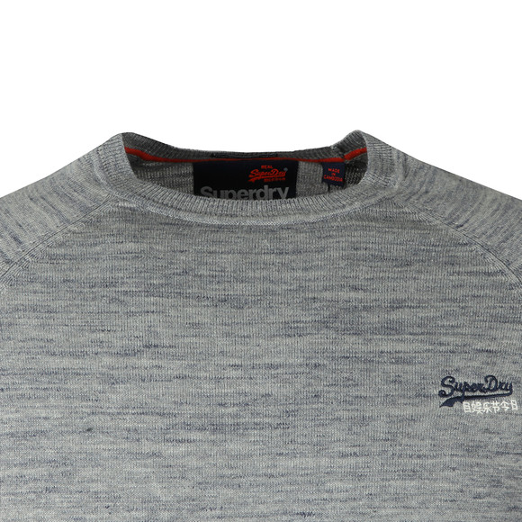 Superdry Mens Blue Orange Label Crew Jumper main image