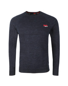 Superdry Mens Blue Orange Label Crew Jumper
