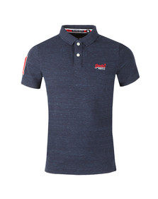 Superdry Mens Blue S/S Classic Pique Polo