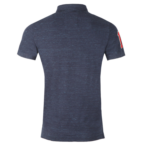 Superdry Mens Blue S/S Classic Pique Polo main image