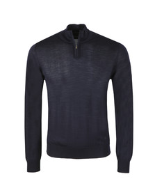 Emporio Armani Mens Blue Half Zip Jumper