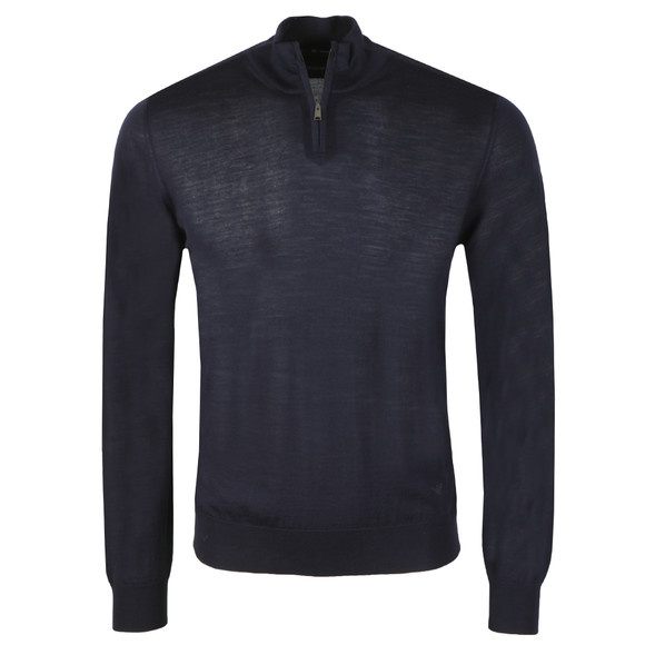 Emporio Armani Mens Blue Half Zip Jumper main image