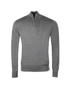 Emporio Armani Mens Grey Half Zip Jumper