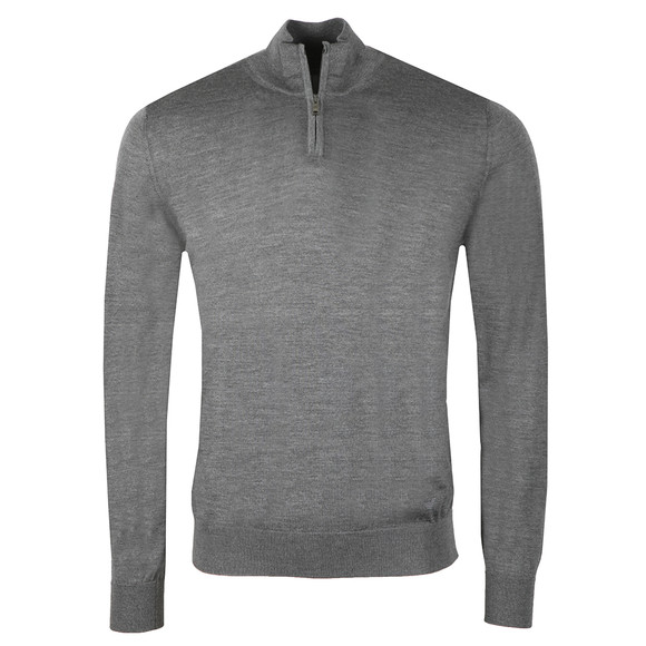 Emporio Armani Mens Grey Half Zip Jumper main image