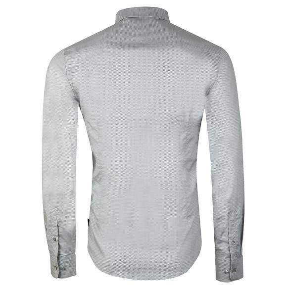 Emporio Armani Mens Grey Allover Pattern Shirt main image