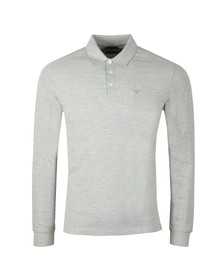 Emporio Armani Mens Grey Small Logo LS  Polo Shirt