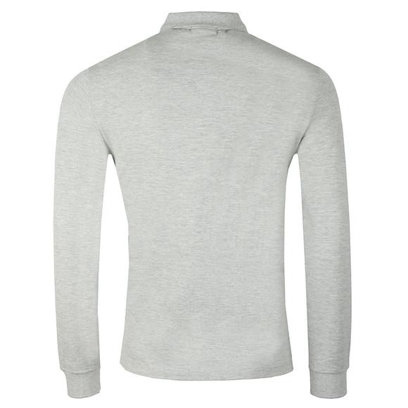 Emporio Armani Mens Grey Small Logo LS  Polo Shirt main image