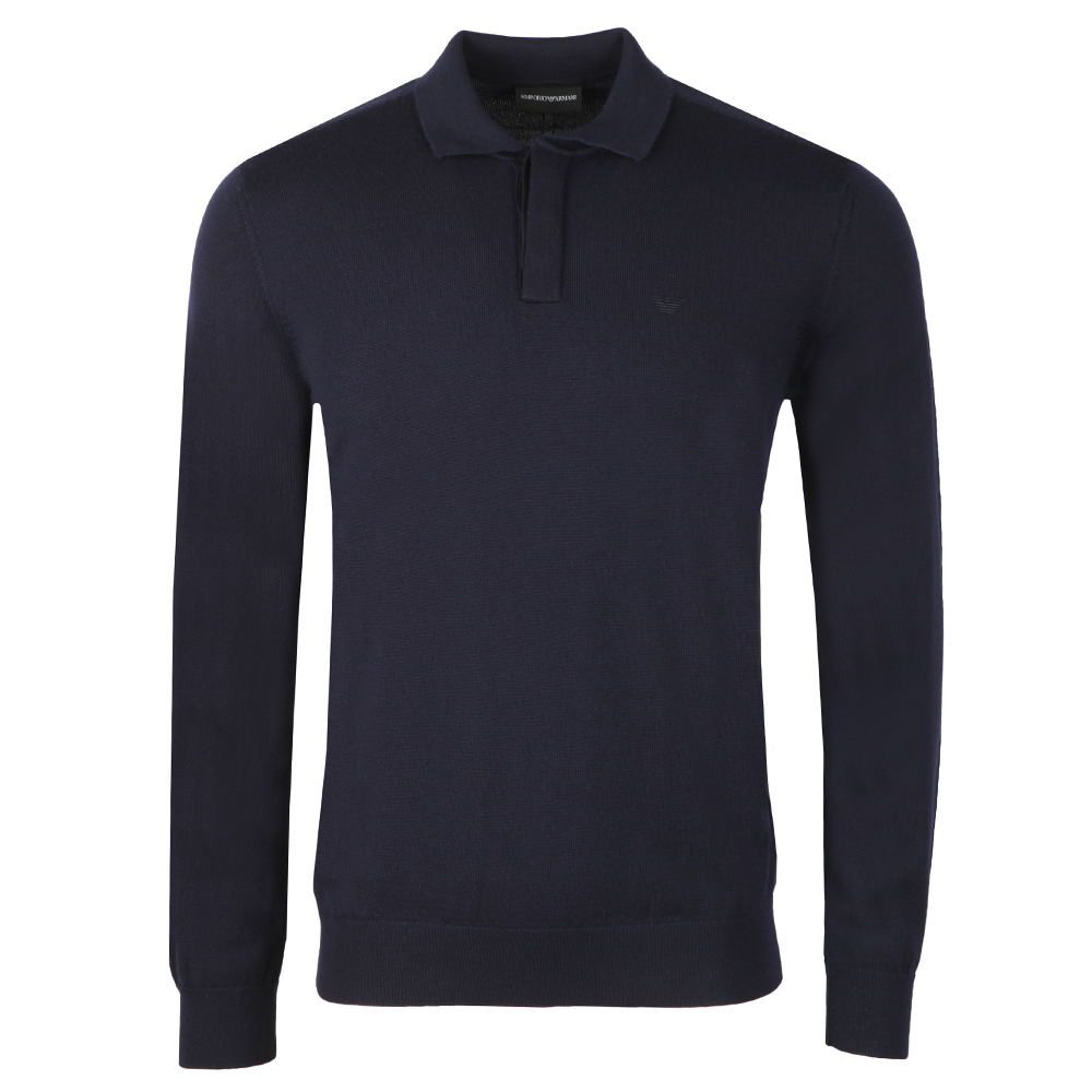 9531b84310 Emporio Armani Long Sleeve Knitted Polo Shirt