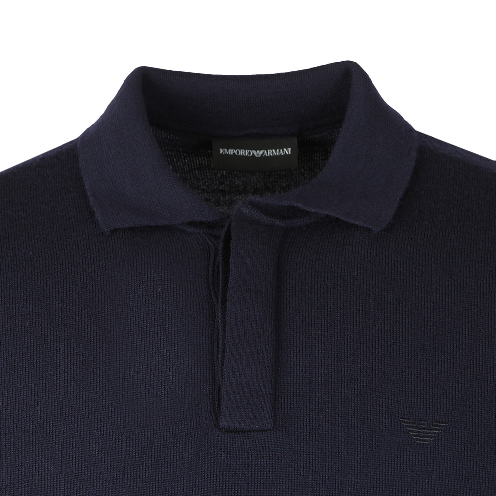 Long Sleeve Knitted Polo Shirt main image