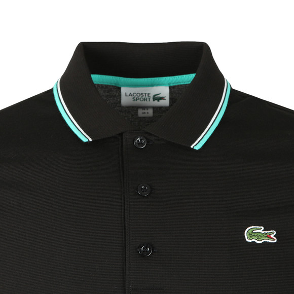 Lacoste Sport Mens Black YH7900 Tipped Polo Shirt main image