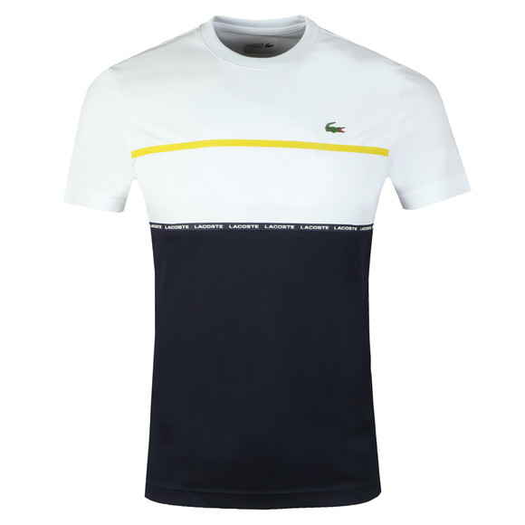 Lacoste Sport Mens White S/S TH8141 Tee main image