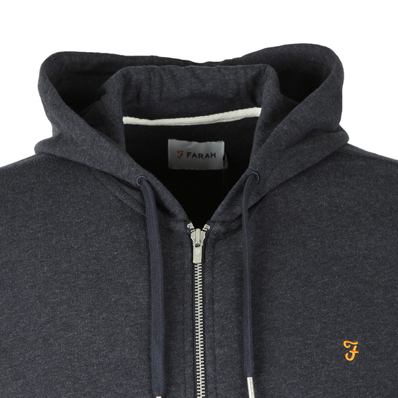 Farah Mens Blue Kyle Full Zip Hoodie main image