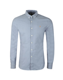 Farah Mens Blue L/S Brewer Oxford Shirt