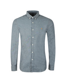 Farah Mens Blue L/S Steen Slim Shirt