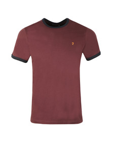 Farah Mens Red Groves Ringer Tee