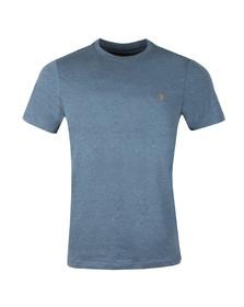 Farah Mens Blue S/S Denny Marl T-Shirt