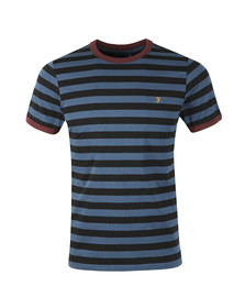 Farah Mens Blue Belgrove Striped Tee