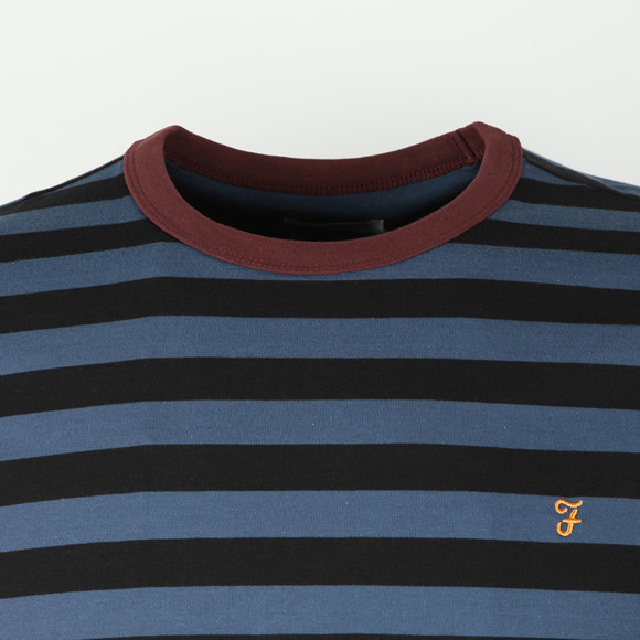 Farah Mens Blue Belgrove Striped Tee main image