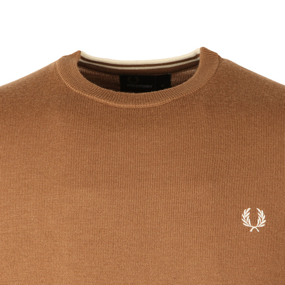 Fred Perry Mens Brown Classic Crew Neck Jumper main image