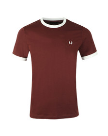 Fred Perry Sportswear Mens Red Ringer T-Shirt